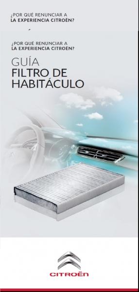 CONSEJOS MANTENIMIENTOS FILTRO HABITÁCULO (FILTRO POLEN)