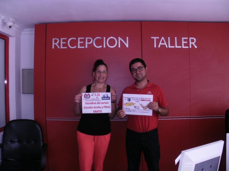 Ya tenemos ganadora del sorteo CAMBIO DE ACEITE Y FILTRO GRATIS
