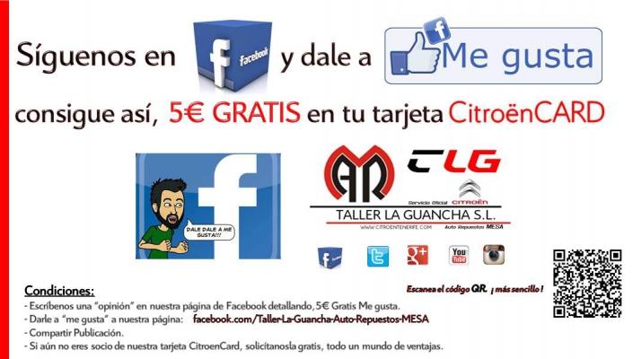 Consigue 5€ GRATIS por darnos Me Gusta en Facebook