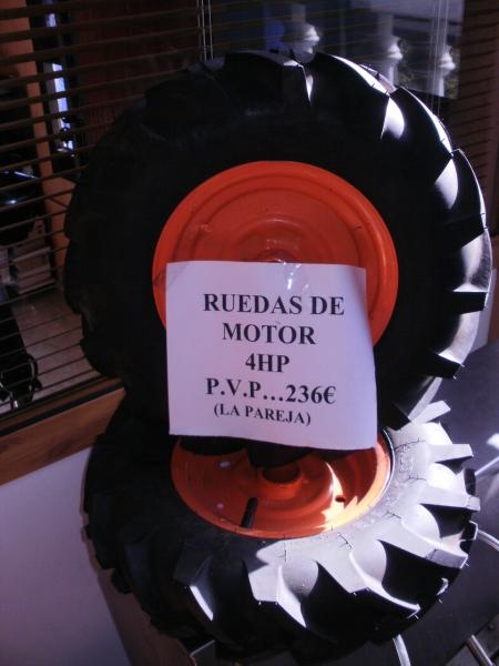 Ruedas para motocultores de 5.5 HP Y 9.5 HP.
