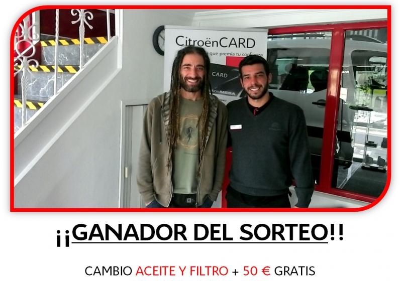 GANADOR DEL SORTEO CAMBIO ACEITE Y FILTO + 50 €