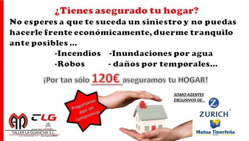 Aseguramos tu hogar por tan sólo 120€ anualidad...