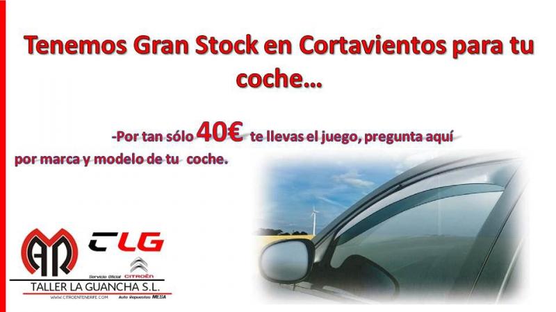 Tenemos Gran Stock en CORTAVIENTOS para tu coche.
