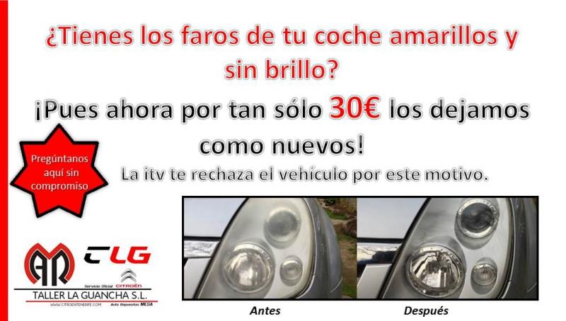 ¿Los Faros de tu coche están amarillos y sin brillo? Por tan sólo 30€ te los dejamos como nuevos.